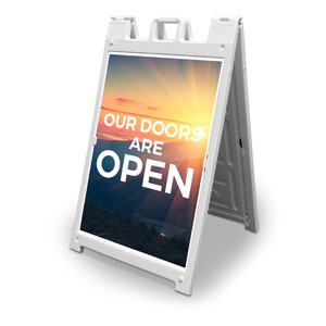 Sunrise Glow Doors Are Open 2' x 3' Street Sign Banners