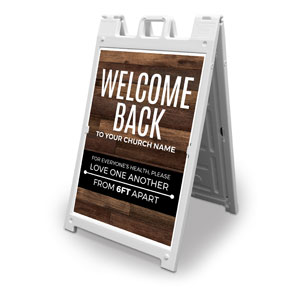 Walnut Welcome Back Distancing 2' x 3' Street Sign Banners
