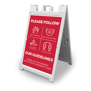 Red Guidelines 2' x 3' Street Sign Banners
