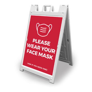 Red Face Mask 2' x 3' Street Sign Banners