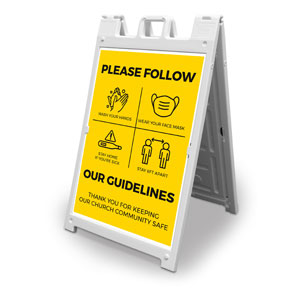 Yellow Guidelines 2' x 3' Street Sign Banners