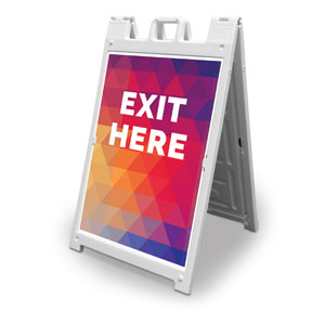 Geometric Bold Exit Here 2' x 3' Street Sign Banners