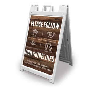 Walnut Guidelines 2' x 3' Street Sign Banners