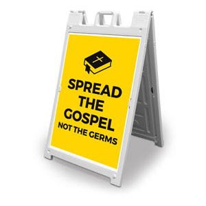 Yellow Spread the Gospel 2' x 3' Street Sign Banners