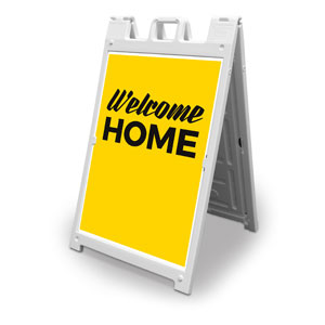 Yellow Welcome Home 2' x 3' Street Sign Banners