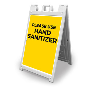Yellow Use Hand Sanitizer 2' x 3' Street Sign Banners