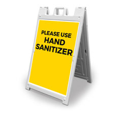 Yellow Use Hand Sanitizer