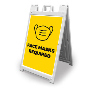 Yellow Face Masks Required 2' x 3' Street Sign Banners