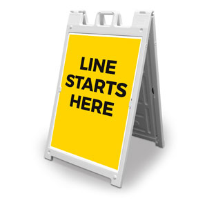 Yellow Line Starts Here 2' x 3' Street Sign Banners