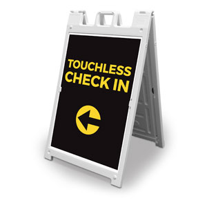 Jet Black Touchless Check In 2' x 3' Street Sign Banners