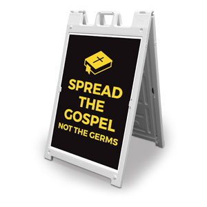 Jet Black Spread the Gospel 2' x 3' Street Sign Banners