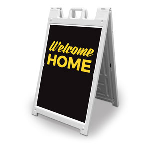 Jet Black Welcome Home 2' x 3' Street Sign Banners