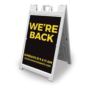 Jet Black We're Back 2' x 3' Street Sign Banners