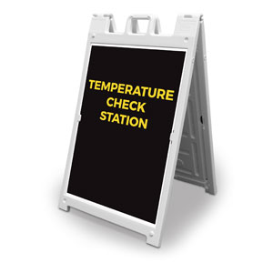 Jet Black Temperature Check 2' x 3' Street Sign Banners