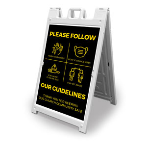Jet Black Guidelines 2' x 3' Street Sign Banners