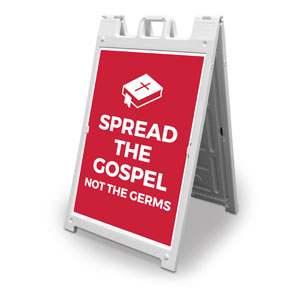 Red Spread the Gospel 2' x 3' Street Sign Banners