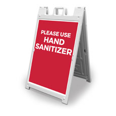 Red Use Hand Sanitizer