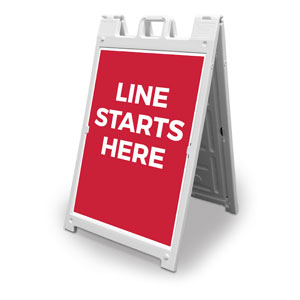 Red Line Starts Here 2' x 3' Street Sign Banners