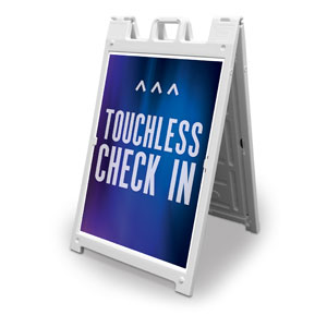 Aurora Lights Touchless Check In 2' x 3' Street Sign Banners