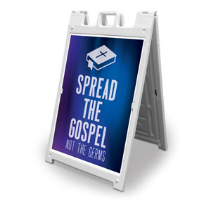 Aurora Lights Spread the Gospel 2' x 3' Street Sign Banners