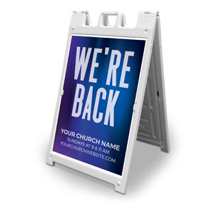 Aurora Lights We're Back 2' x 3' Street Sign Banners