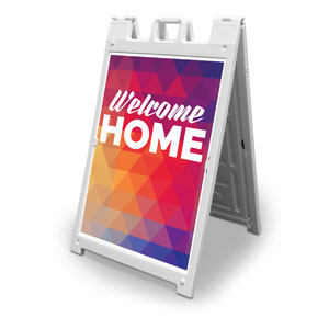 Geometric Bold Welcome Home 2' x 3' Street Sign Banners