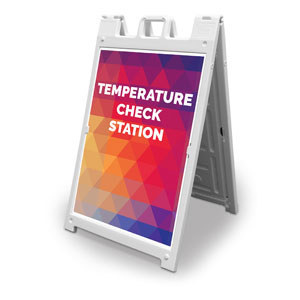 Geometric Bold Temperature Check 2' x 3' Street Sign Banners