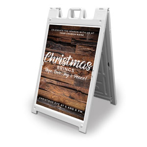 Dimensional Wood Christmas 2' x 3' Street Sign Banners
