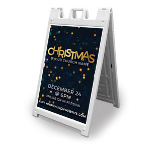 Christmas At Bokeh 2' x 3' Street Sign Banners