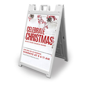 Celebrate Christmas Berries 2' x 3' Street Sign Banners