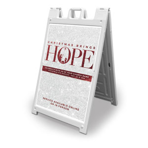 Christmas Brings Hope Sparkle 2' x 3' Street Sign Banners