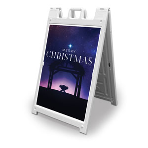 Begins With Christ Manger 2' x 3' Street Sign Banners