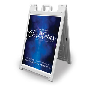 Celebrate Christmas Blue Sparkle 2' x 3' Street Sign Banners