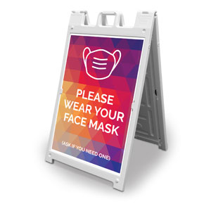 Geometric Bold Face Mask 2' x 3' Street Sign Banners
