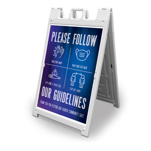 Aurora Lights Guidelines 2' x 3' Street Sign Banners