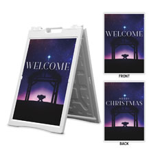 Begins With Christ Manger Welcome Christmas