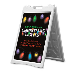 Drive Through Christmas Lights 2' x 3' Street Sign Banners