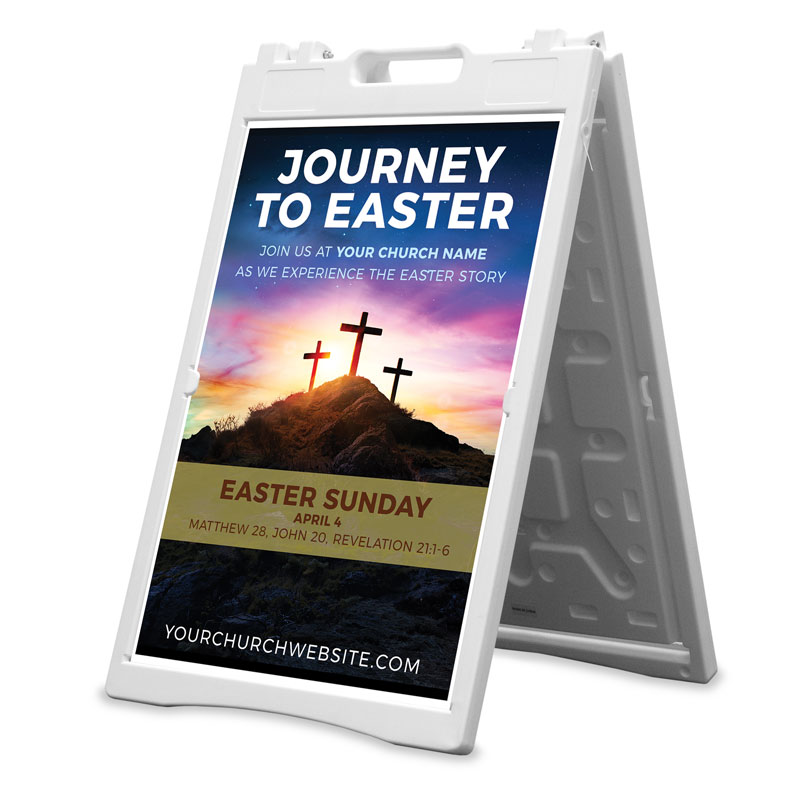 Banners, Easter, Journey To Easter, 2' x 3'