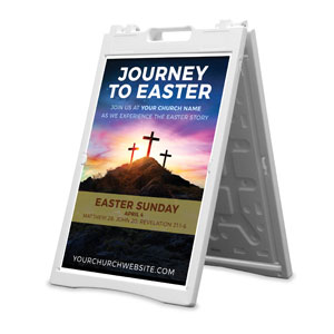 Journey To Easter 2' x 3' Street Sign Banners