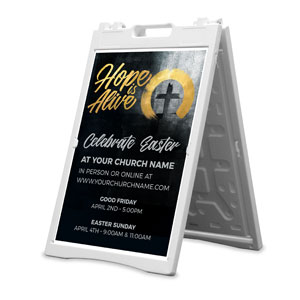 Hope Is Alive Gold 2' x 3' Street Sign Banners