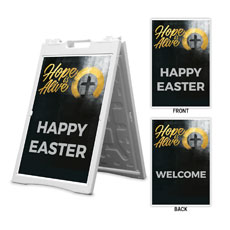 Hope Is Alive Gold Happy Easter Welcome