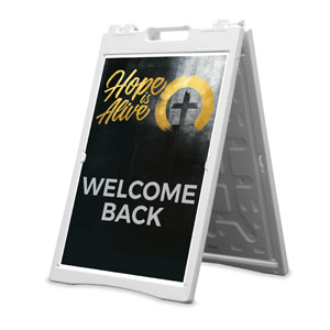 Hope Is Alive Gold Welcome Back 2' x 3' Street Sign Banners
