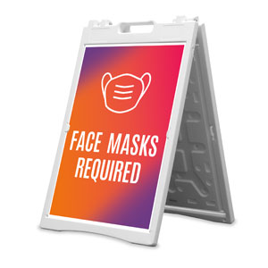 Easter Together Hues Face Masks Required 2' x 3' Street Sign Banners