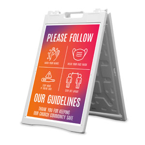 Easter Together Hues Guidelines 2' x 3' Street Sign Banners