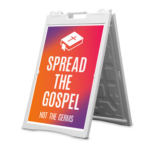 Easter Together Hues Spread the Gospel 2' x 3' Street Sign Banners