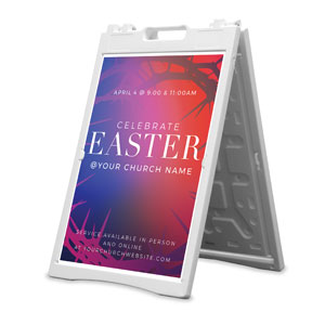 Celebrate Easter Crown 2' x 3' Street Sign Banners