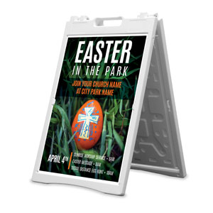 Easter In Park Grass 2' x 3' Street Sign Banners