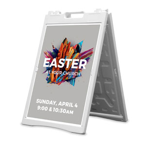 CMU Easter Invite 2021 Grey 2' x 3' Street Sign Banners