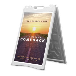 Comeback Sunrise 2' x 3' Street Sign Banners