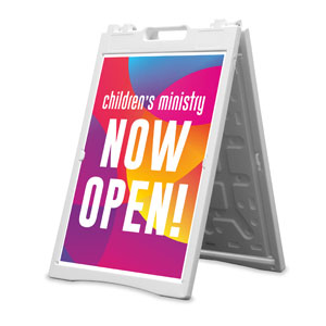 Curved Colors Children's Ministry 2' x 3' Street Sign Banners
